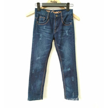 Wholesale Price Hand Brushing Children`s Cotton Jeans