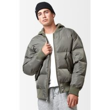 100% polyester classic bomber puffer jacket