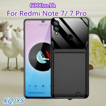 6000mAh Power Bank Battery Case For Redmi Note 7 Pro Battery Charging Case Portable Battery Charger Cases For Redmi Note 7