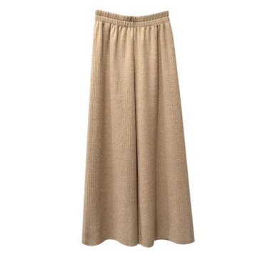 Fashion Knitted Wide Leg Pants