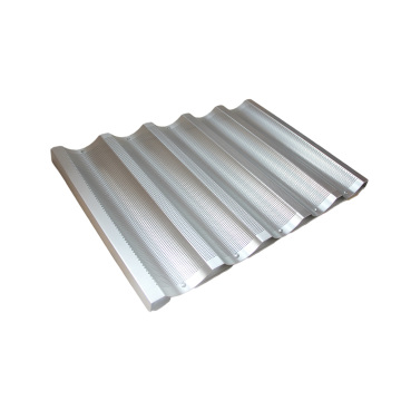 5 wave Aluminum baguette baking tray
