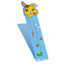 Hanging collapsible cartoon measure height feet wood toy