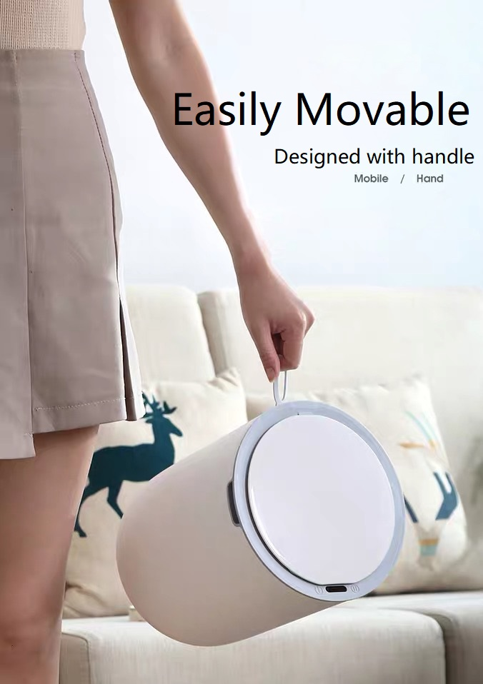 Movable Trash Bin for home with handle
