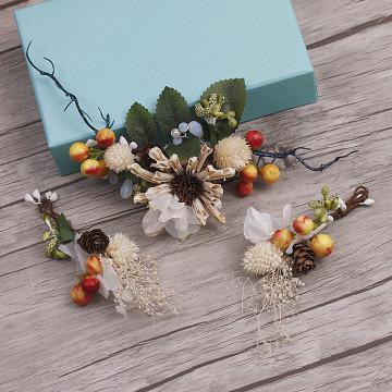 bride headdress Sen female fresh berry comb hair ornaments wedding hair accessories 8818