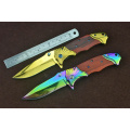 Titanium Portable Folding Pocket Knife with Clip