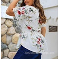 Short Sleeve Zipper Collar Ladies' Shirts Blouses