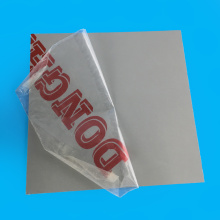 1mm Thickness Single Side Protection PVC Clear Plate