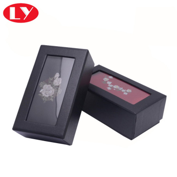 Black bow tie box with clear window