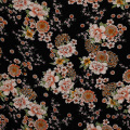 Wholesale 100% rayon printed korean moss crepe fabric