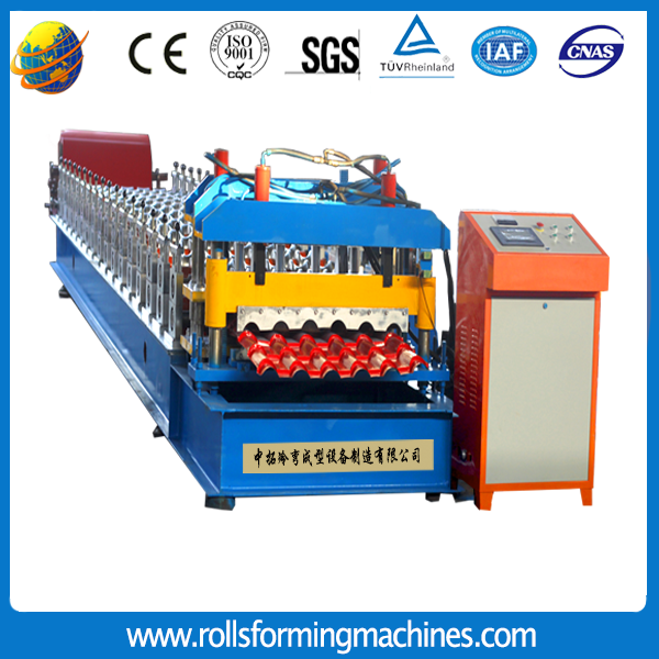 Colored Glazed Steel Roof Tile Roll Forming Machine