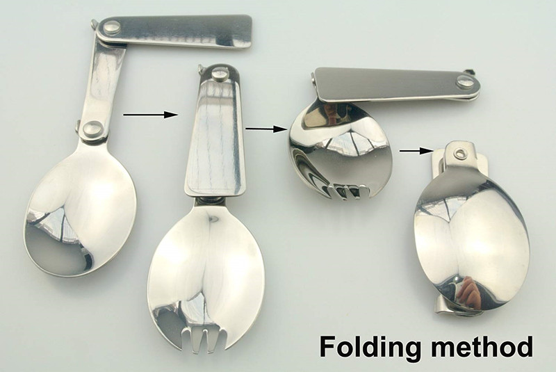 Quaint Stainless Steel Folding Spoon