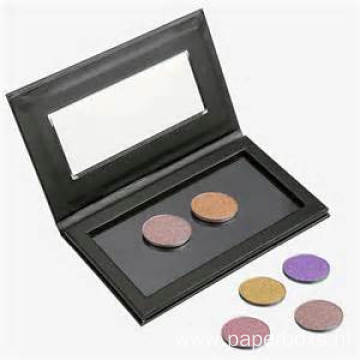 Black Box For Eyeshadow Packaging With Clear Window