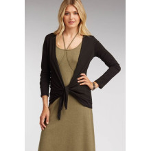 Women's Cashmere Cardigan with Tie