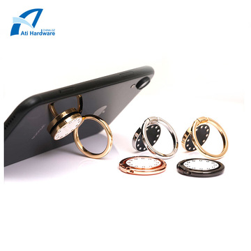Diamond-embedded Multifunction Metal Phone Ring
