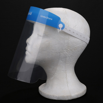 Masque facial transparent bleu transparent