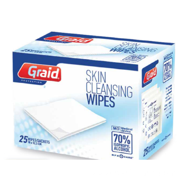 Skin Cleansing Alcohol Swabs 25pcs