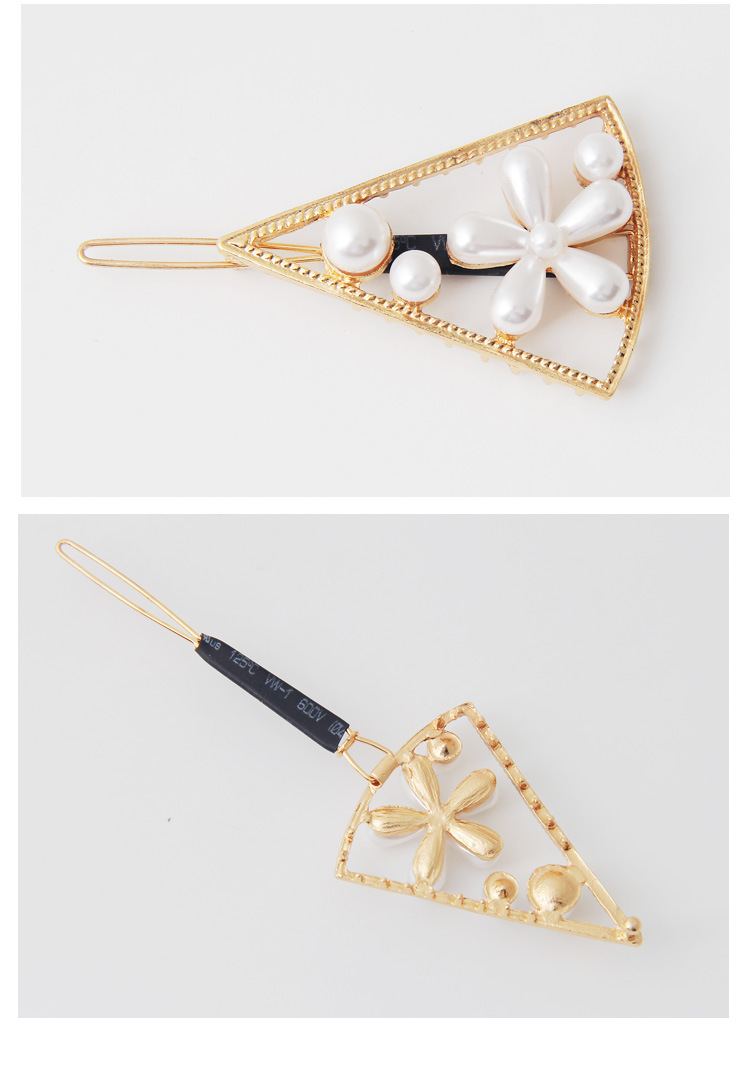 Ladies metallic pearl hair pin headpiece (1)