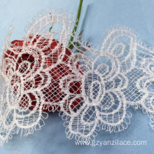 I-White Embroidery Tulle Lace Trim