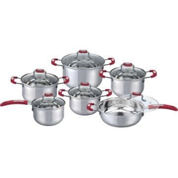 Stylish silicone cookware set