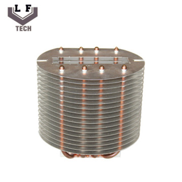 OEM Aluminium Copper Pipe Heatsink