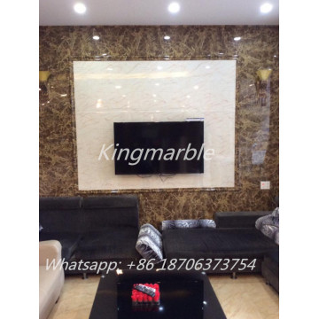 High gloss wood grain UV Marble panel for cabinet
