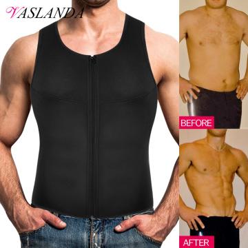 Men Waist Trainer Vest Sweat Sauna Suit Slimming Body Shaper Weight Loss Tank Tops Workout Undershirt Boobs Compression Shirts