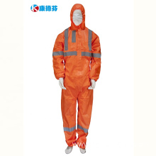 Reflective Non Woven Coveralls Protective Safety Clothing