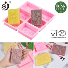 SJ Honeycomb Molds For Soaps Silicone Soap Molds Handmade Rectangle Shapes Diy Handmade Craft 3d Soap Forms