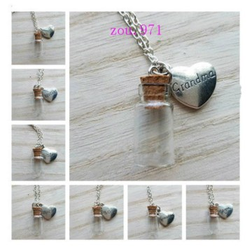 1PCS Memorial Necklace family member, Urn Vial Necklace for Ashes, Cremation Jewelry