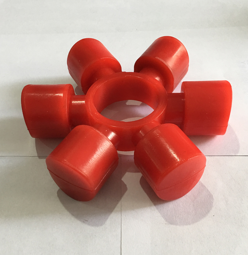 Red Shaft Coupling Elastic Buffer Mat