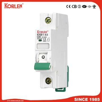 Miniature Circuit Breaker 4.5KA 63A 1P with SEMKO