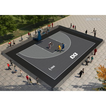 FIBA approval basketball sport court tiles Enlio SES