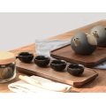 Natural  Rectangle Black Walnut Wooden Tray