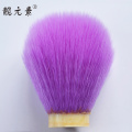 colorful men using shaving brush head