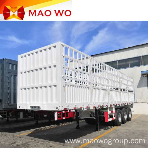 Competitive Price 3 Axles Fence Transport Semi Trailer