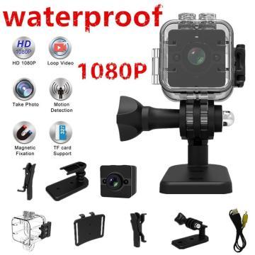 SQ12 1080P Mini Camera DVR Lens Sport Video Cameras Wide-Angle Mini Camcorder Waterproof Night Vision Camcorder