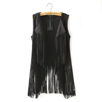 Wholesale Fashion Women Sleeveless Tassel Cardigan