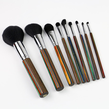 Faka umbala i-Wooden Handle Makeup Brush