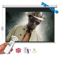 72 inches 16:9 Electric Projection Screen Matt White pantalla proyeccion for LED LCD HD Movie Motorized Projector Screen