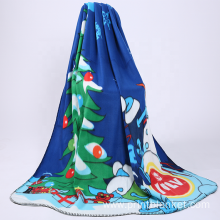 silk screen print oem custom plush promotion blanket