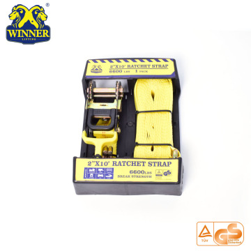 2 Inch Cheap Ratchet Strap And Cargo Lashing Belt With Package