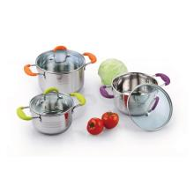 6 pieces  Casserole With Silicone Handles