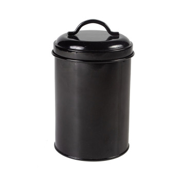 Black Kitchen Retro 3 Piece Canister Set