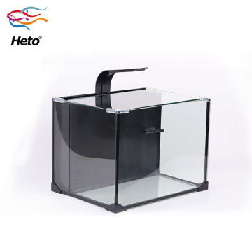 Fiber Aquarium Fish Farm Tank With Resin Rocks