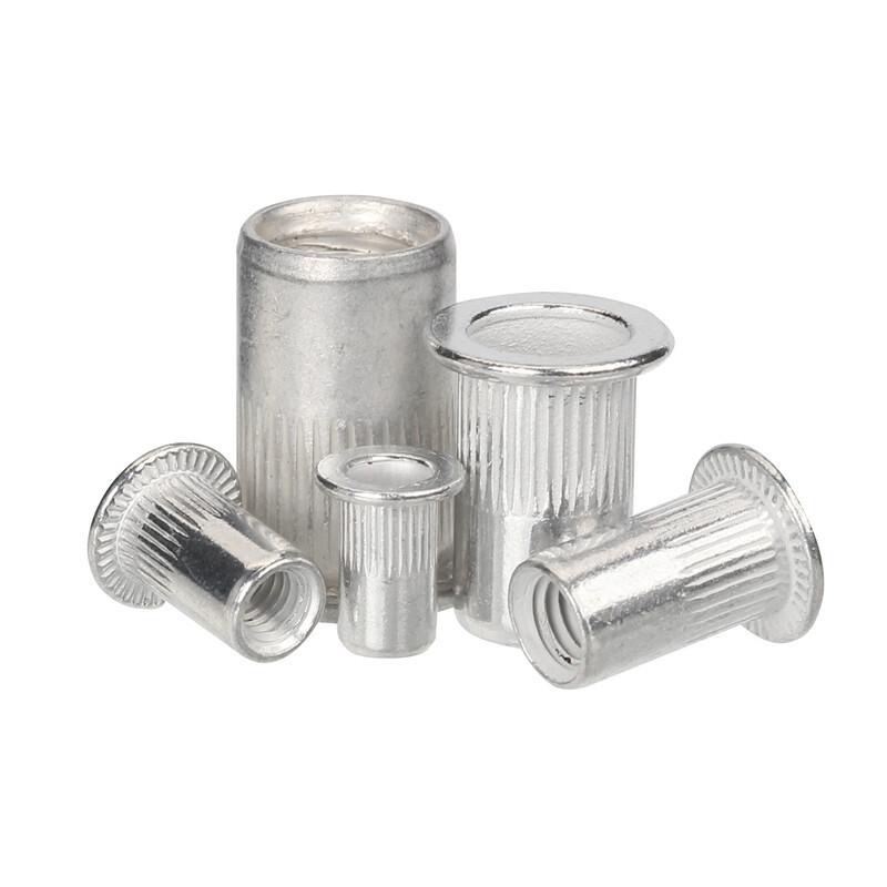 100Pcs Aluminum Flat Head Rivet Nuts Set M3 M4 M5 M6 M8 Rivet Nuts Insert Rivets Mix Size