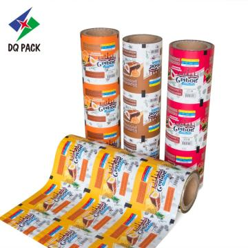 Plastic packaging film roll for snack