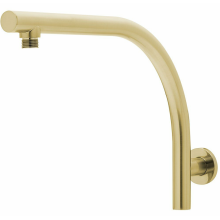 Brushed Gold Brass Shower Arm
