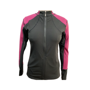 Women's knit mandarin neck activewear jacket