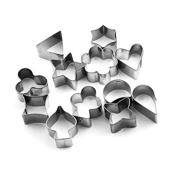 stainless steel cookie mold 12pcs