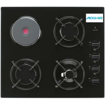 Black Electric Ceramic Hobs 4 Burner